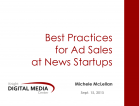 [Archived Webinar, Sept. 2015] Best Practices: Ad Sales for Community News Startups
